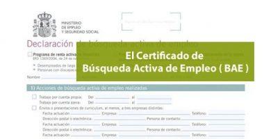 Cómo conseguir el Certificado de búsqueda activa de empleo (BAE)