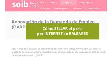 Cómo sellar el paro por Internet en Baleares