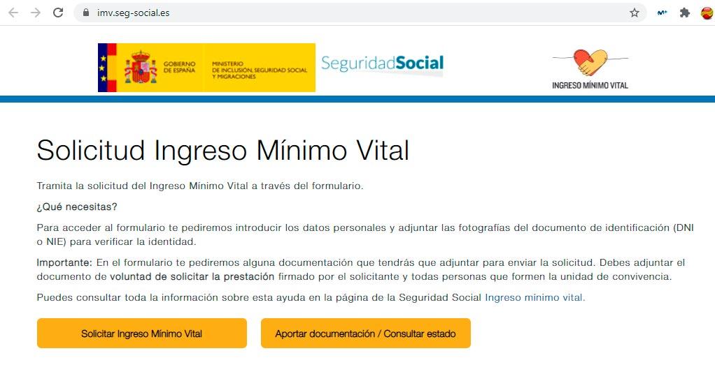 Consultar estado solicitud ingreso mínimo vital