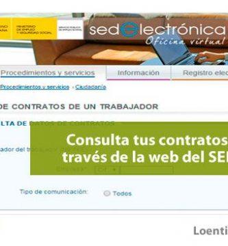 Cómo obtener una relación de tus contratos desde la web del SEPE
