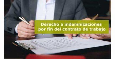 ¿Cuándo tiene el trabajador derecho a una indemnización al terminar de trabajar?