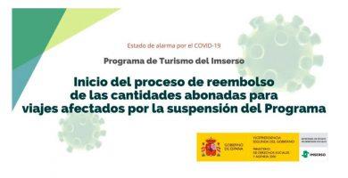 Devolución del dinero adelantado para los viajes del IMSERSO cancelados por la crisis sanitaria