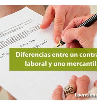 Diferencias entre un contrato mercantil y uno laboral