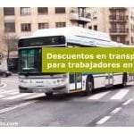 Descuentos en transporte para trabajadores en paro