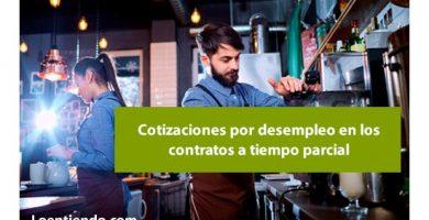 ¿Cómo se cuentan los días cotizados por desempleo en los contratos a tiempo parcial?