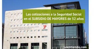 ¿Qué cubre la cotización del SEPE en el subsidio de mayores de 52 años?
