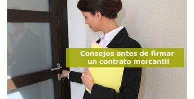 Consejos antes de firmar un contrato mercantil