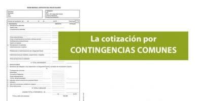 La cotización por contingencias comunes