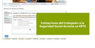 Las cotizaciones del trabajador a la Seguridad Social durante un ERTE