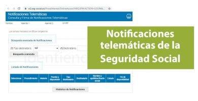 Consulta de notificaciones telemáticas de la Seguridad Social (INSS, TGSS)